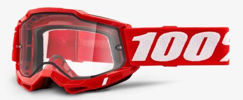 ACCURI 2 100% - USA , ENDURO brýle červené - čiré plexi