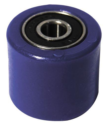 Kladka řetězu univerzální, RTECH (modrá, vnitřní průměr 8 mm, vnější průměr 31 mm, šířka 28 mm)