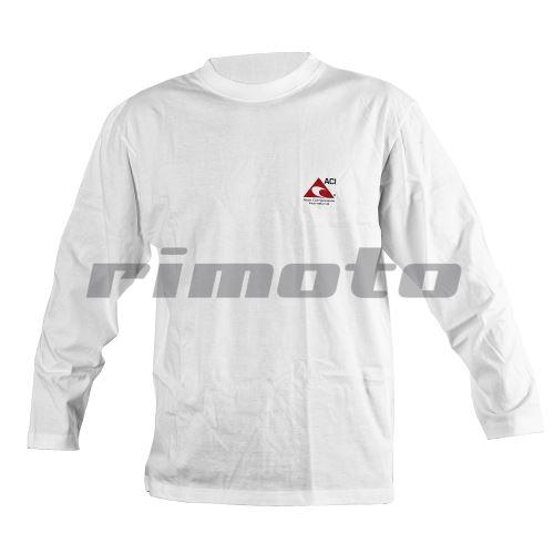 Tričko s dlouhým rukávem bílé ACI