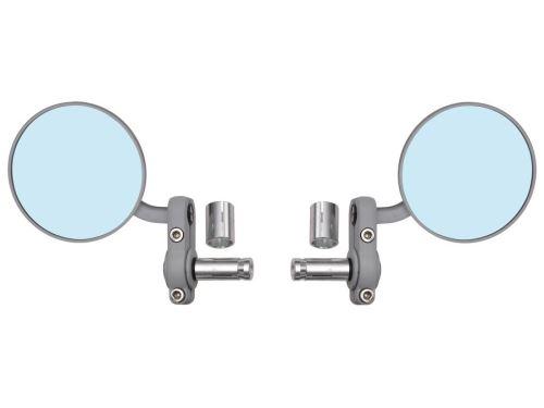 Zpětné zrcátko univerzální do konců řidítek pro vnitřní průměr 13 mm, OXFORD - Anglie (stříbrné, průměr zrcátka 68 mm, pár)