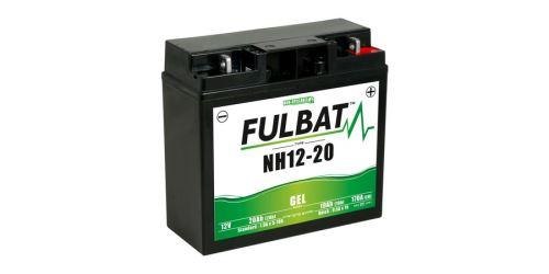 Baterie 12V, NH12-20 GEL, 20Ah, 170A, bezúdržbová GEL technologie 185x81x170 FULBAT (aktivovaná ve výrobě)