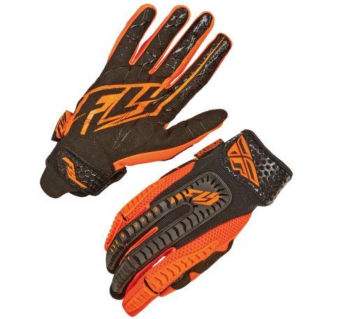 rukavice Evolution, FLY RACING - USA (oranžová/černá)