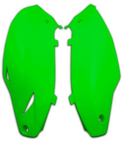 Boční číslové tabulky Kawasaki, RTECH (zelené, pár)
