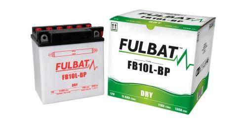 Baterie 12V, YB10L-B-P, 11Ah, 130A, konvenční 135x90x145, FULBAT(vč. balení elektrolytu)
