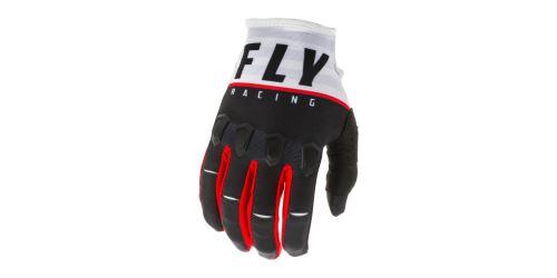 Rukavice KINETIC K120 2020, FLY RACING (černá/bílá/červená)