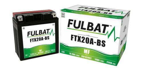 Baterie 12V, FTX20A-BS, 18Ah, 230A, bezúdržbová MF AGM 150x87x161 FULBAT (vč. balení elektrolytu)