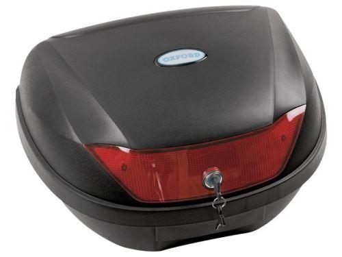 Kufr Top Case plast, OXFORD - Anglie (černý nelakovaný, objem 44 l)