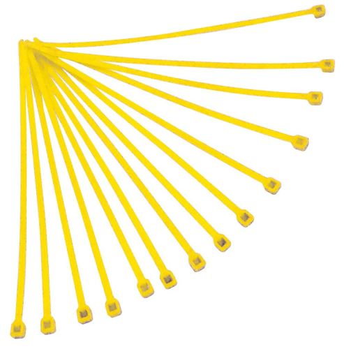 Stahovací páska 280x4,8 mm, RTECH (žlutá, 100 ks)