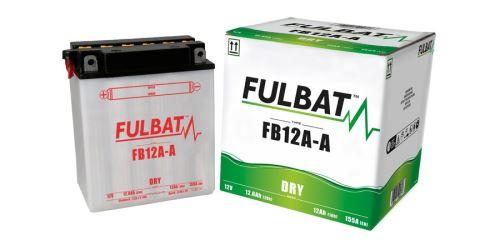 Baterie 12V, YB12A-A, 12Ah, 155A, konvenční 134x80x160, FULBAT (vč. balení elektrolytu)
