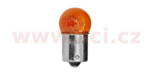 Žárovka 12V 10W (patice BA15s) oranžová (sada 10 ks)