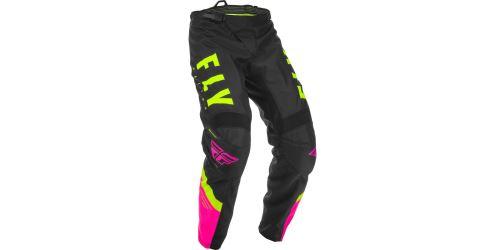 Kalhoty F-16, FLY RACING (růžová/černá/hi-vis)