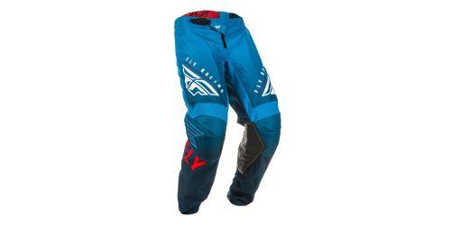 Kalhoty KINETIC K220, FLY RACING (modrá/bílá/červená)
