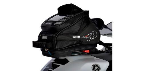 Tankbag na motocykl Q4R QR, OXFORD - Anglie (černý, s rychloupínacím systémem na víčka nádrže, objem 4 l)