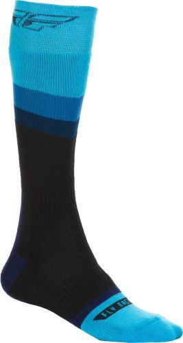 Ponožky dlouhé Knee Brace, FLY RACING (černá/modrá)