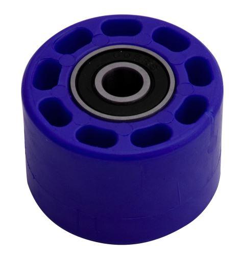 Kladka řetězu univerzální, RTECH (modrá, vnitřní průměr 8 mm, vnější průměr 42 mm, šířka 28 mm
