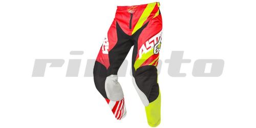 kalhoty Racer Supermatic, ALPINESTARS - Itálie (červená/žlutá/bílá)