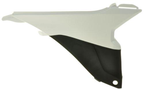 Boční kryt vzduchového filtru pravý KTM, RTECH (bílo-černý)