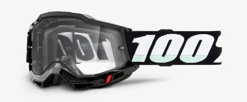 ACCURI 2 100% - USA , ENDURO brýle černé - čiré plexi