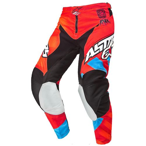 kalhoty Racer Braap, ALPINESTARS - Itálie, dětské (oranžová/červená/modrá)