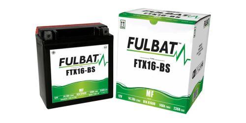 Baterie 12V, FTX16-BS, 14Ah, 230A, bezúdržbová MF AGM 150x87x161 FULBAT (vč. balení elektrolytu)