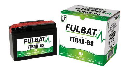 Baterie 12V, FTR4A-BS, 2,4Ah, 35A, bezúdržbová MF AGM 114x49x86, FULBAT (vč. balení elektrolytu)