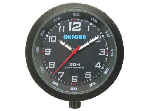 Analogové hodiny, OXFORD (černý rámeček, luminiscenční ciferník)