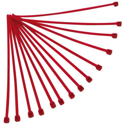 Stahovací páska 280x4,8 mm, RTECH (červená, 100 ks)