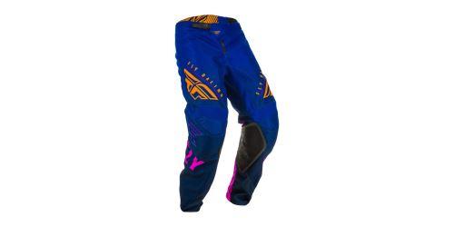 Kalhoty KINETIC K220, FLY RACING (modrá/modrá/oranžová)